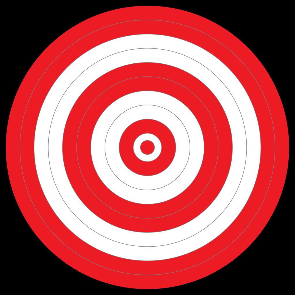 1024x1024 Free Bullseye Clipart Image