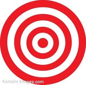 300x296 Learning Target Bullseye Clipart