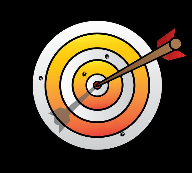 612x553 Target Clipart Arrow