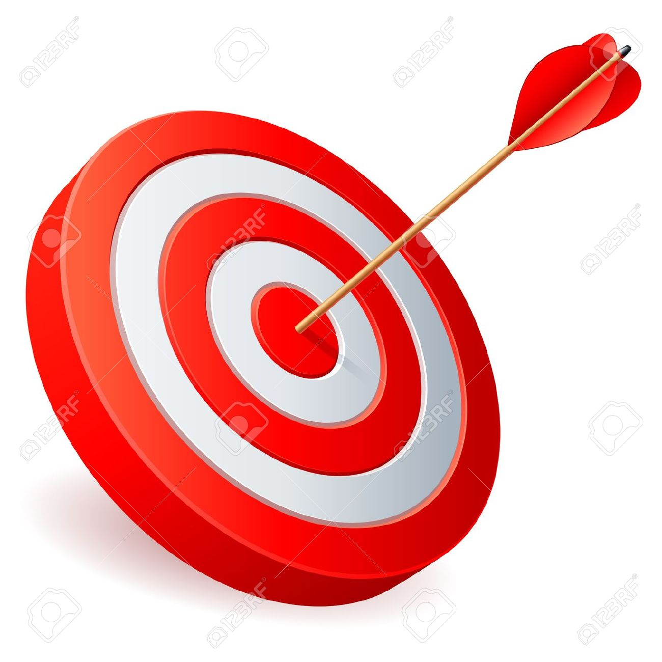 1300x1300 Arrow And Target Clipart