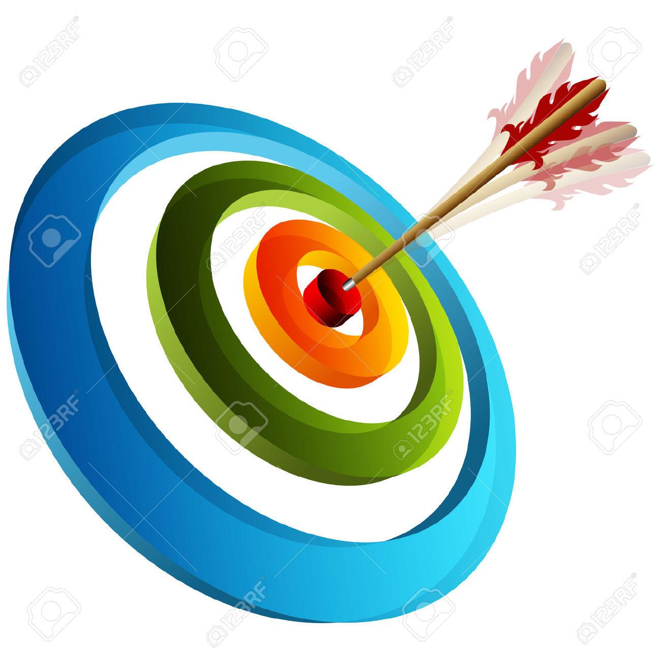 1300x1300 Arrow Circle Target Clipart