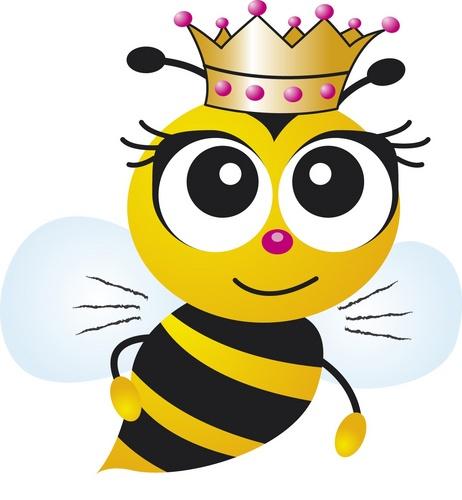 462x500 Free Queen Bee Clipart Image