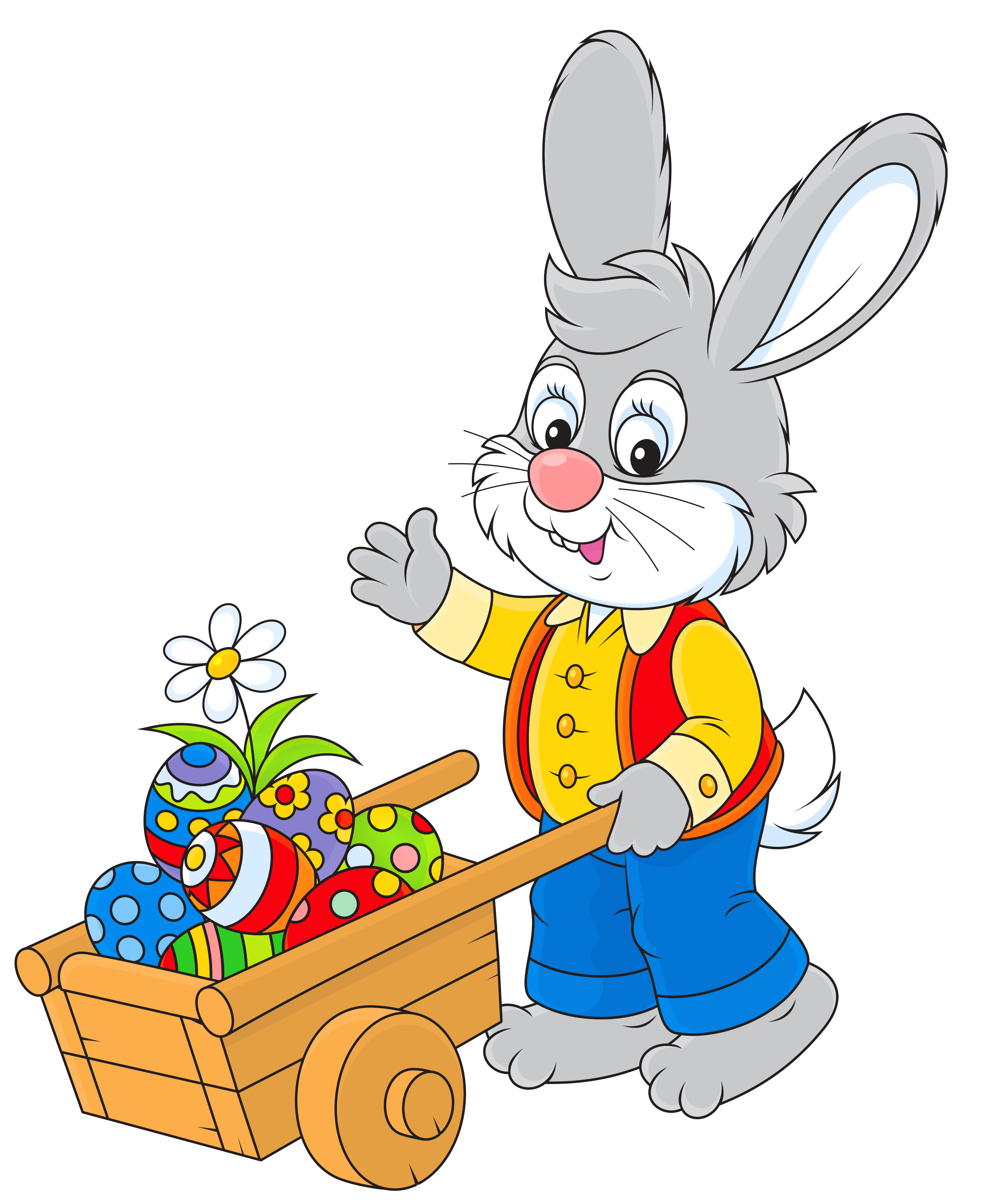 4190x5126 Free Easter Bunny Clipart