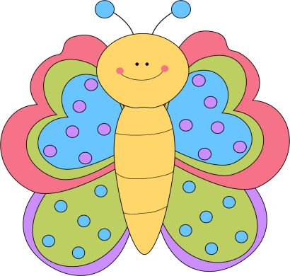 410x390 235 Best Bugs And Butterfies Clip Art Images Clip
