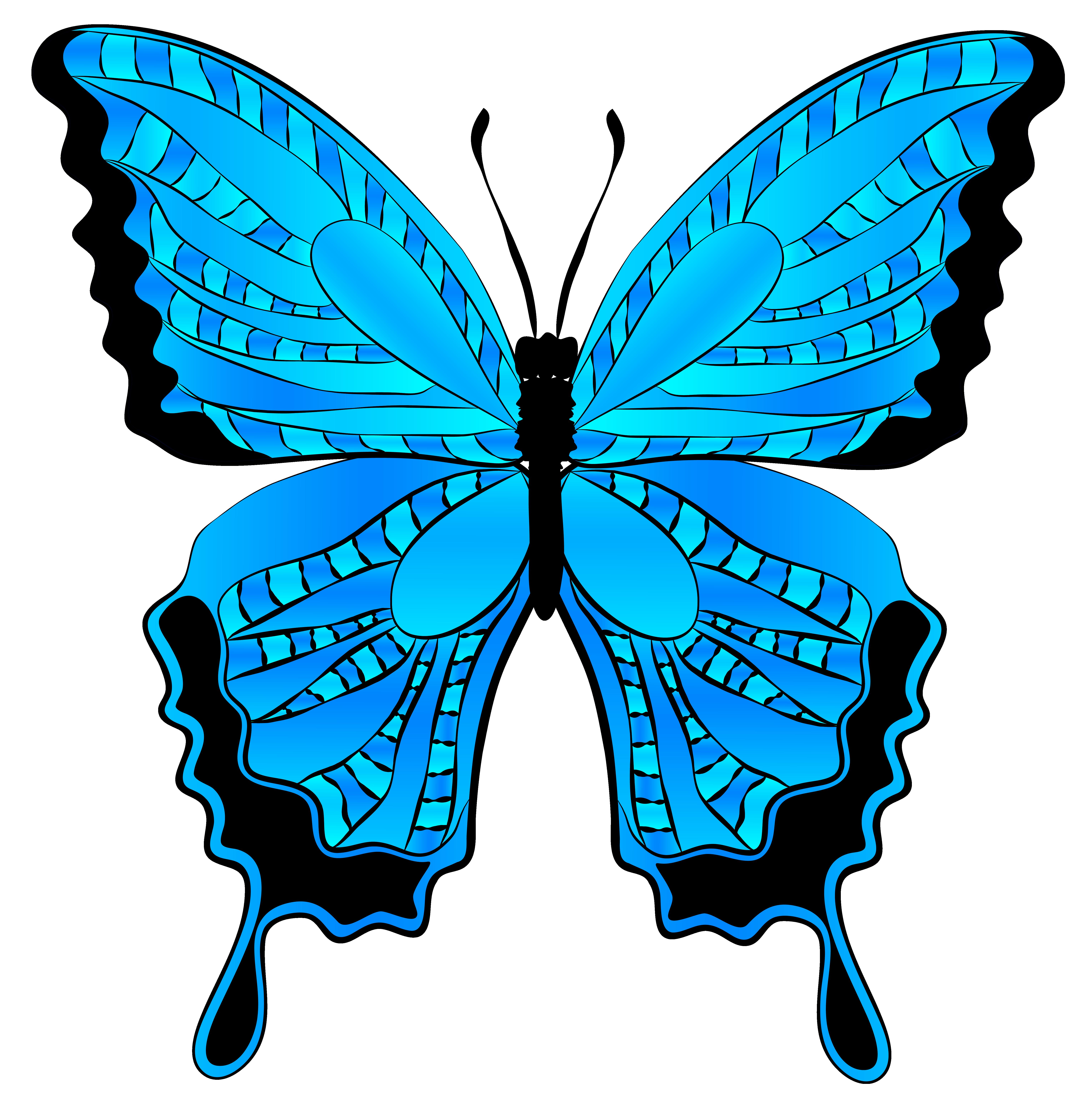 6117x6224 Clip Art Free Butterflies