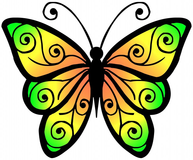 615x512 Free Butterfly Clipart