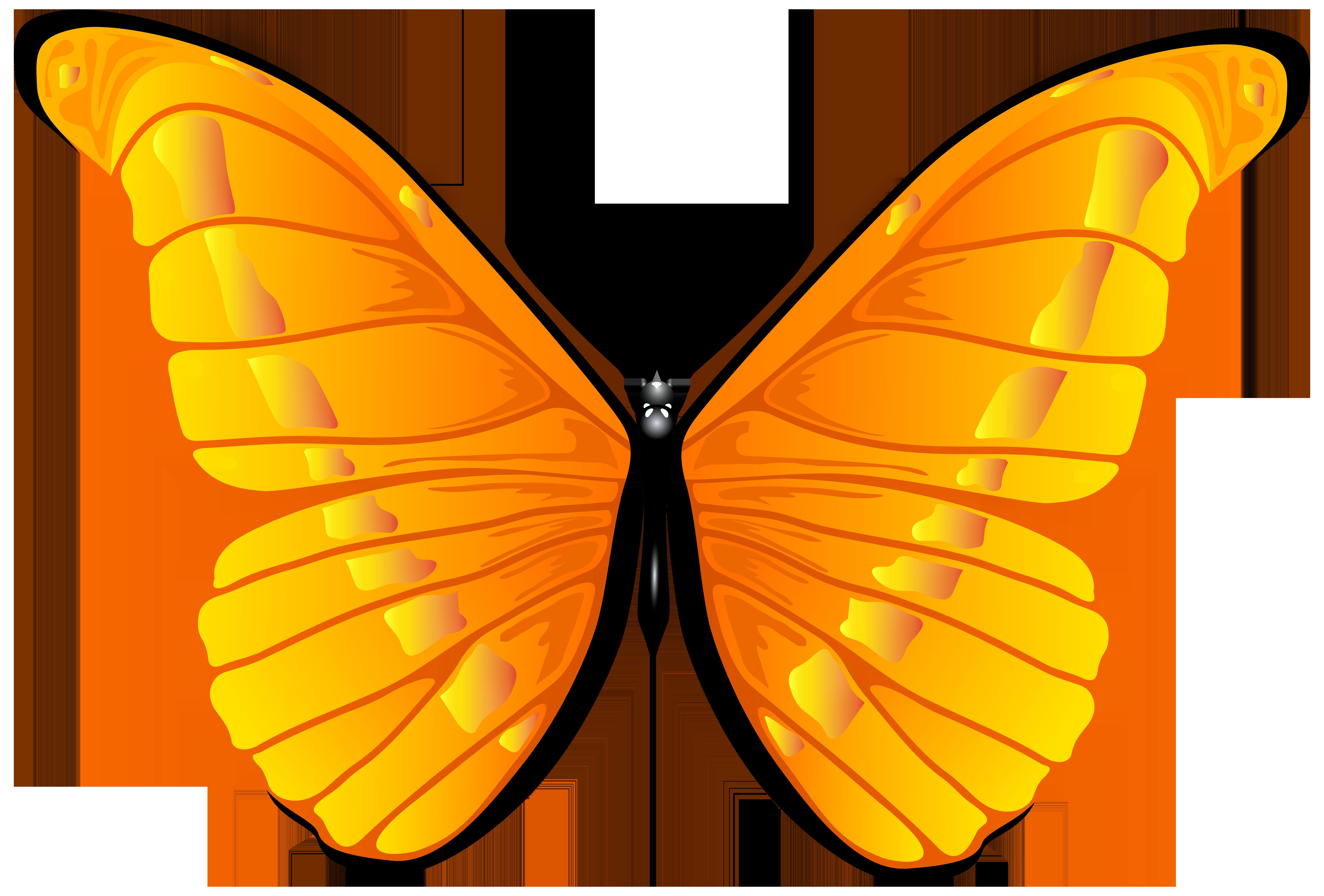 7000x4739 Bug Clipart Orange Butterfly