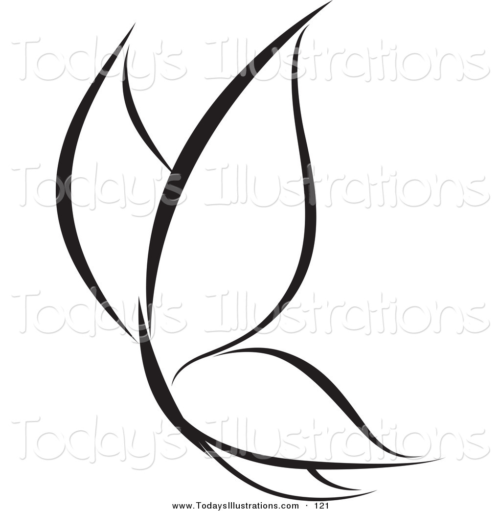 1024x1044 Clipart Of A Calm Black And White Butterfly Logo By Elena