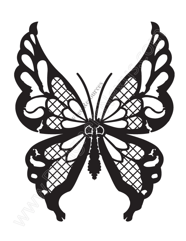 612x792 Monarch Butterfly Clipart Stencil Art