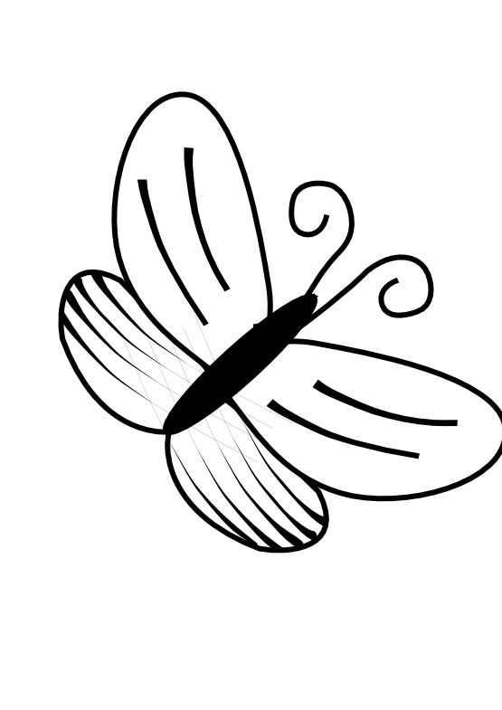 555x785 Best Butterfly Clipart Black And White
