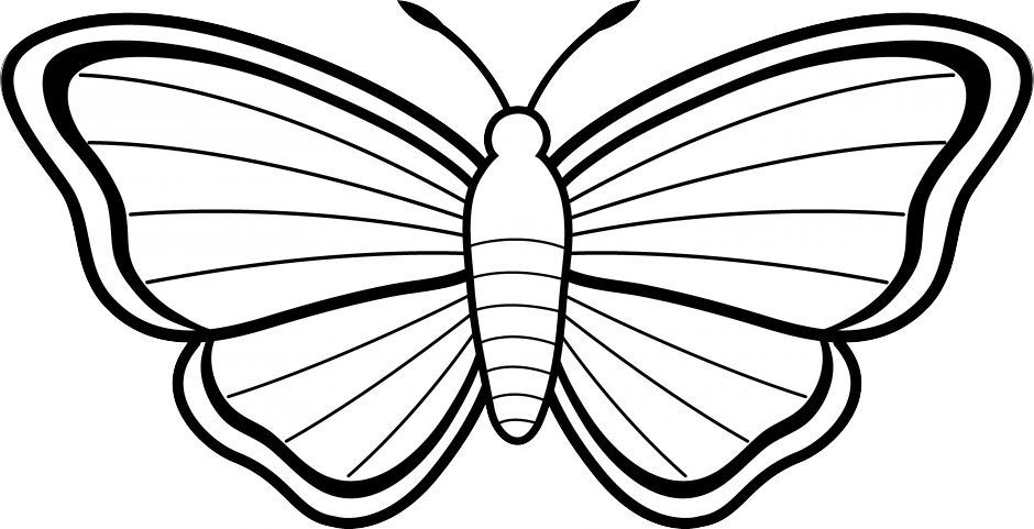 940x481 Black And White Clipart Images Of Butterfly