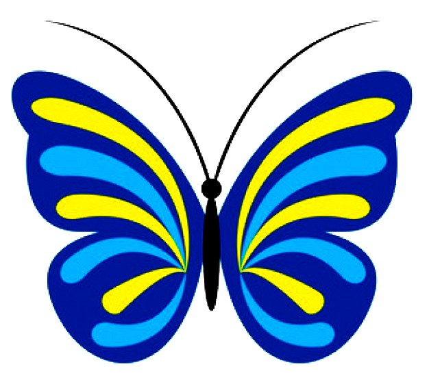 626x561 Blue And Yellow Butterfly Free Images