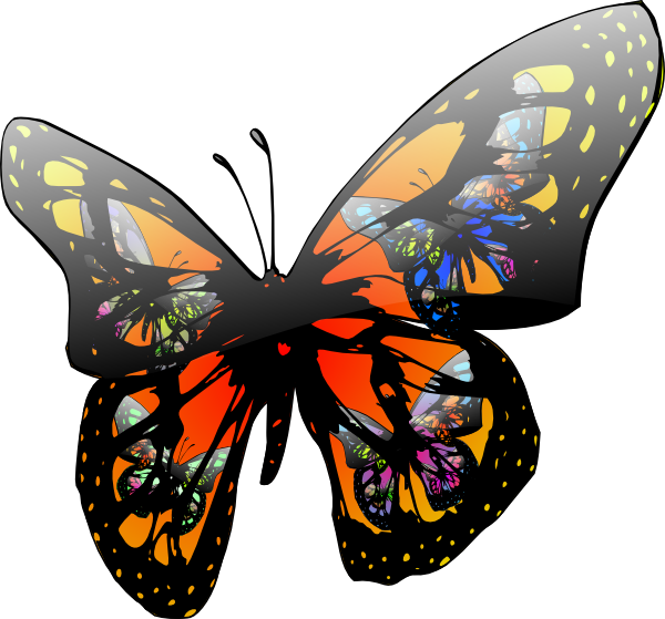 600x559 Butterfly Clipart Free