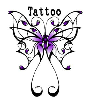 313x353 Gallery For Butterfly Tattoos Clip Art 2 Image