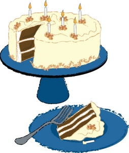 254x300 Free Birthday Cake Clip Art Image