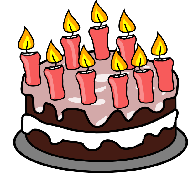 600x555 Free Birthday Cake Clip Art Clipart Images 4