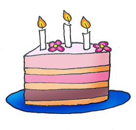 280x266 Layered Birthday Cake Clip Art