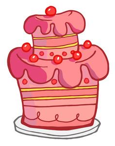 237x300 Pink Birthday Cake Clip Art