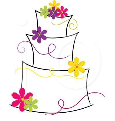 400x420 Modern Wedding Cake Clipart Royalty Free Cake Clipart Illustration