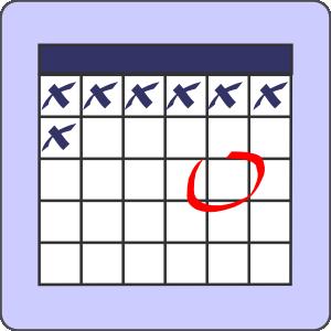 300x300 Calendar With Note Clip Art