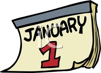 350x253 Date January 1 Calendar Page