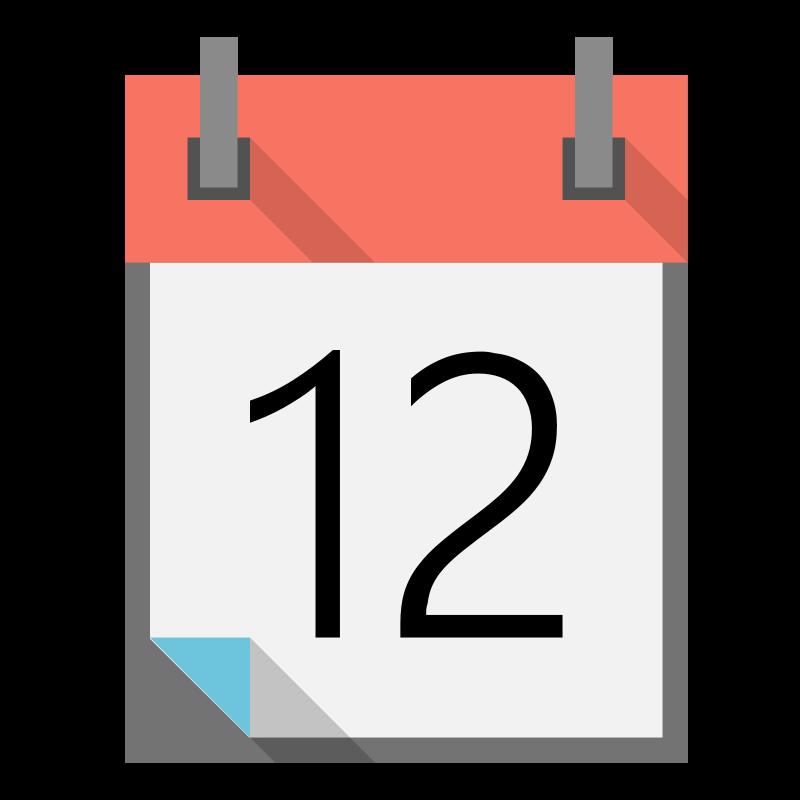 800x800 Image Of Calendar Clipart