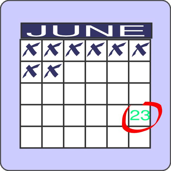 600x600 Mark Your Calendar Clip Art