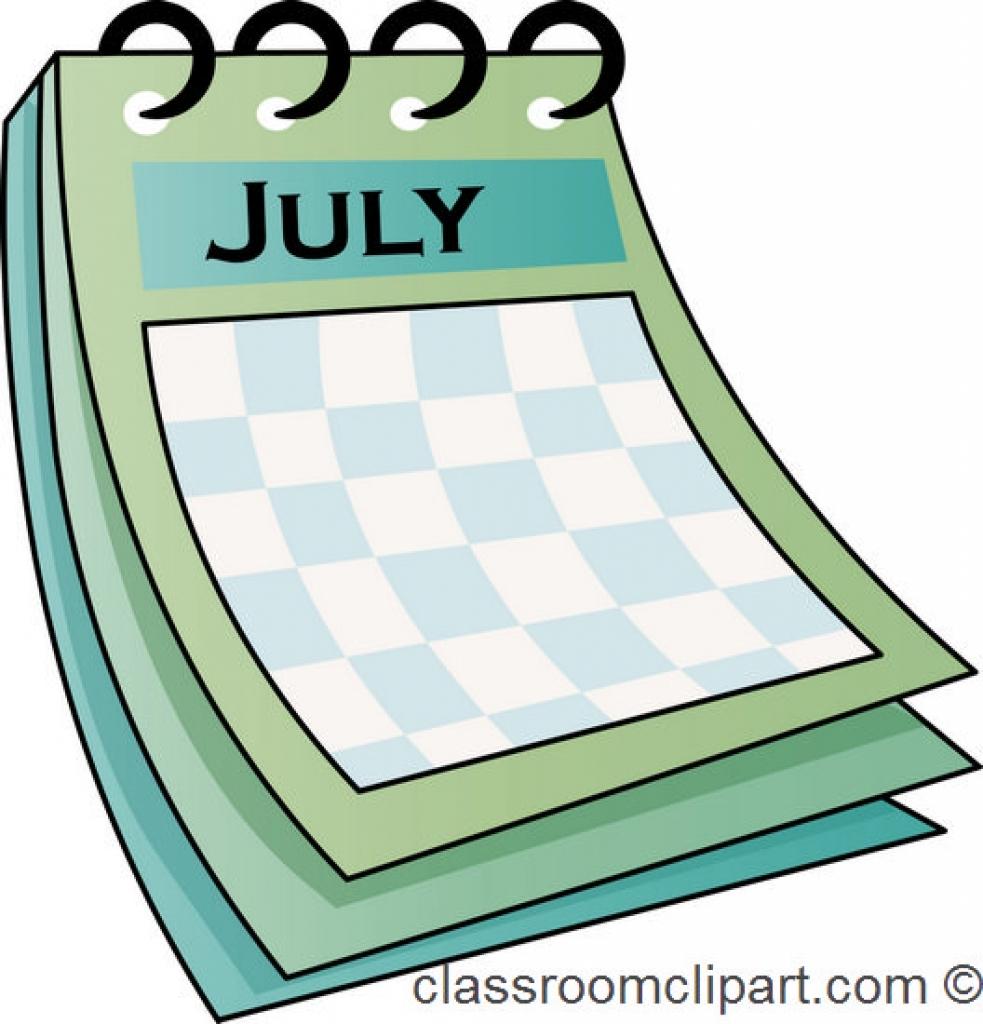 983x1024 Calendar Clip Art Clipart Bay Inside July Calendar Clipart July