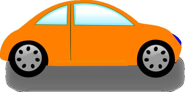 600x299 Orange Car Clip Art