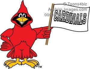 300x230 Cartoon Cardinal Cheering