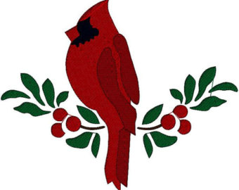 340x270 Free Christmas Cardinal Clipart