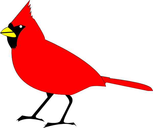 600x504 Cardinal Bird Clip Art