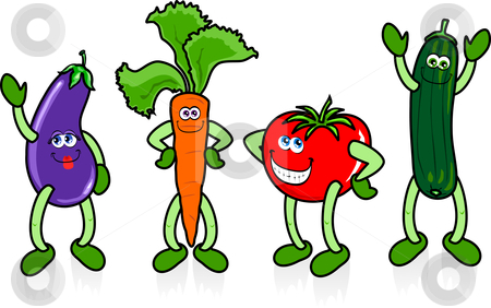 450x282 Clip Art Cartoon Vegetables Clipart