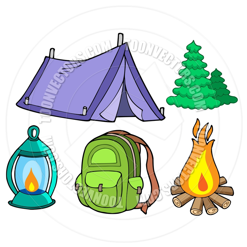 940x940 Cartoon Camping Clipart
