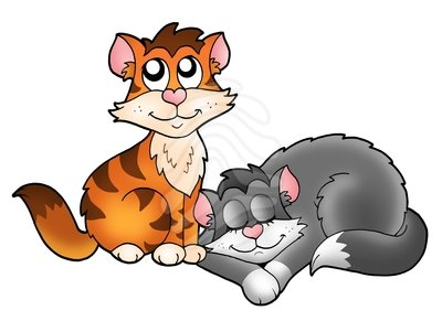 400x301 Cute Cat Clip Art Clipart Panda Free Clipart Images, Two Cats Clip