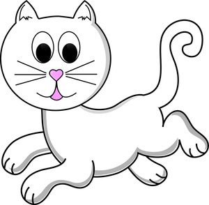 300x294 Cute Cat Clip Art Free Clipart Images Clipartcow