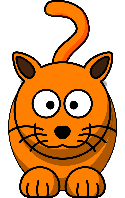 507x800 Free Cartoon Orange Cat Clip Art