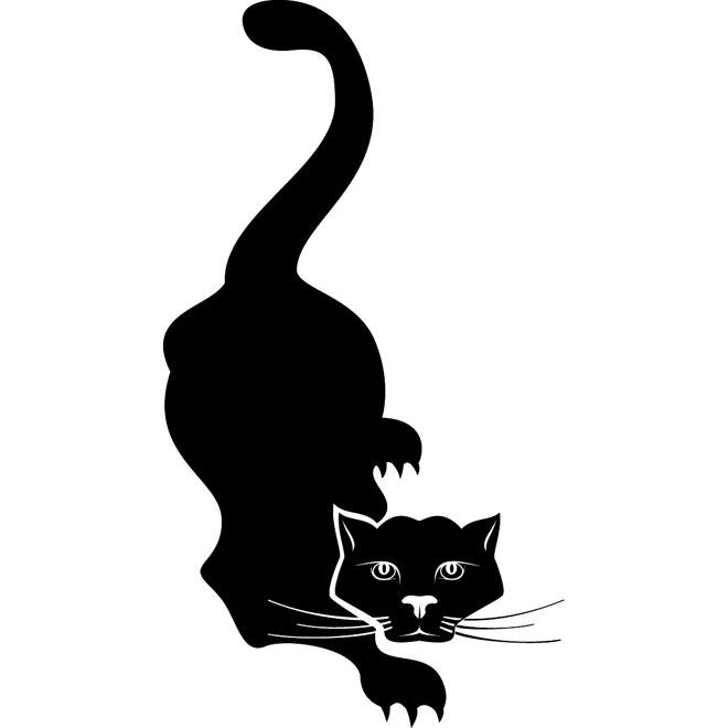 660x660 Black Cat Clip Art 1 Free Vector 123freevectors