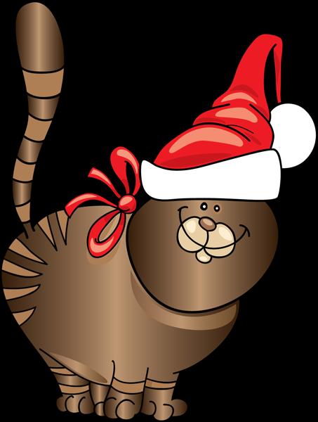 453x600 Cat Cli Christmas Animals Clipart Free Christmas Animal Clip Art