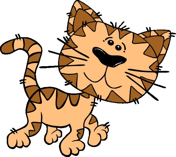 600x536 Cartoon Cat Walking Clip Art Free Vector 4vector