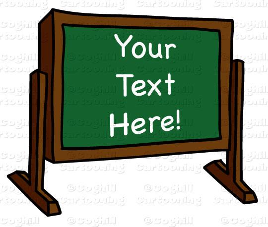 540x458 Cartoon Chalkboard Clip Art Stock Illustration