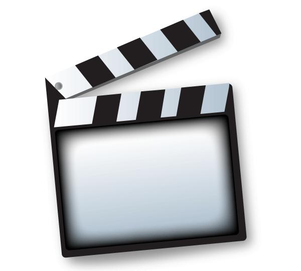 600x540 Movie Clapper Board Template Vector Free