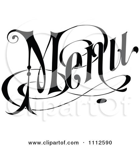 450x470 Retro Clipart Menu