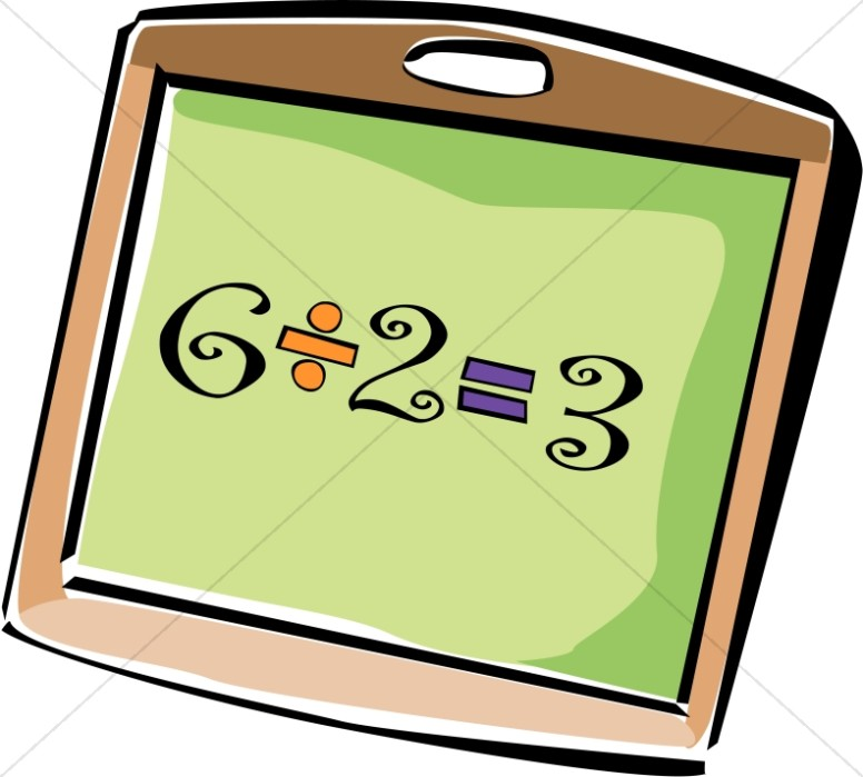 776x699 Student Chalkboard With Division Christian Classroom Clipart