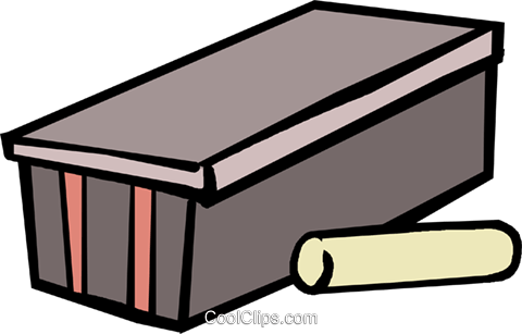 480x307 Piece Of Chalk And An Eraser Royalty Free Vector Clip Art