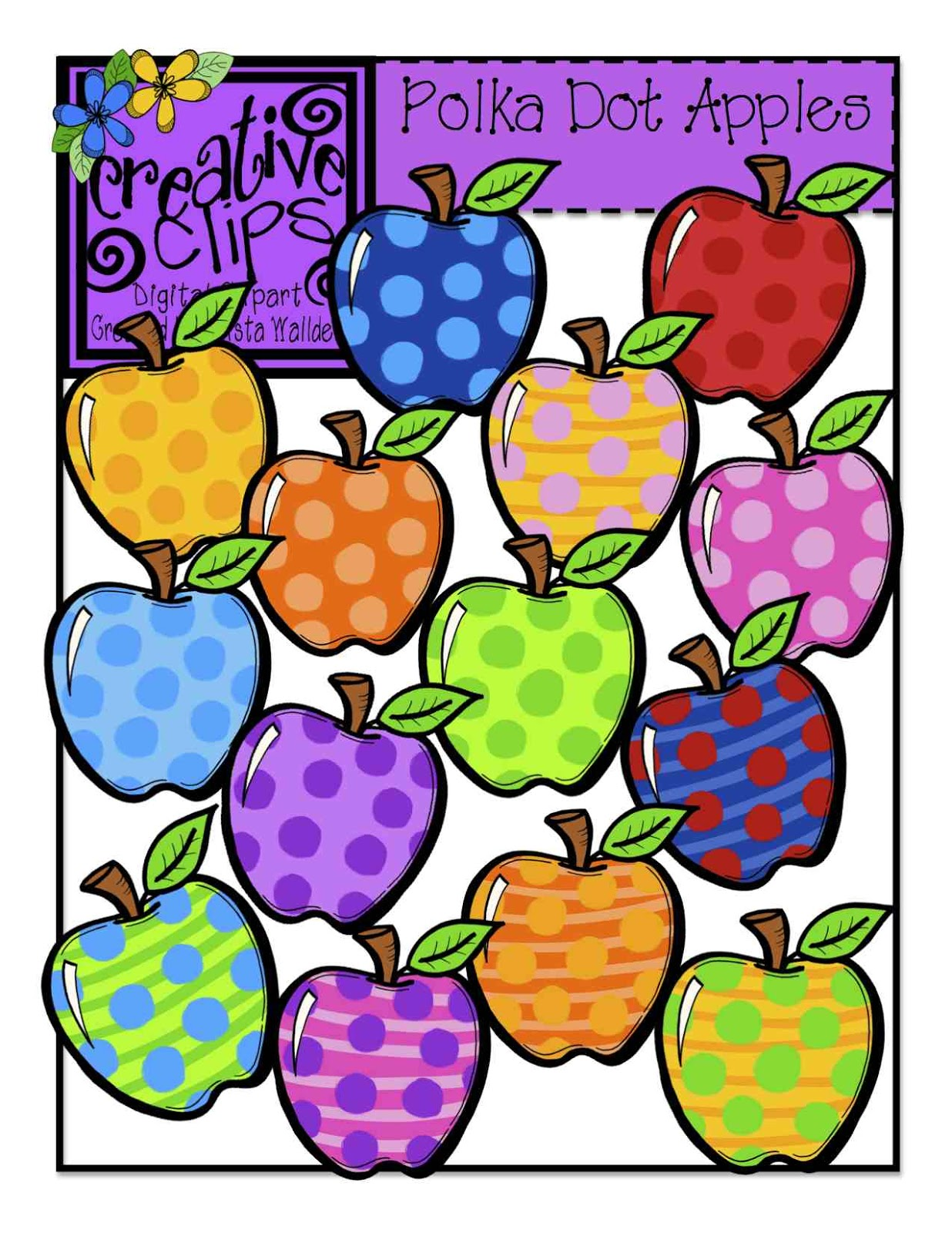 1236x1600 The Creative Chalkboard Free Rainbow Apples And New Clipart Sets
