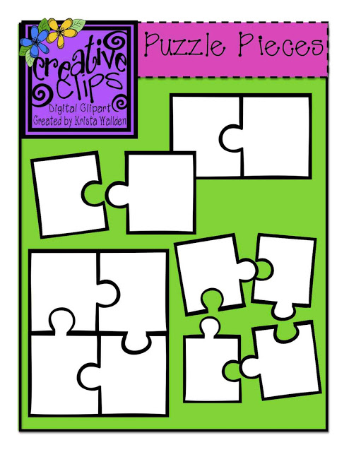 494x640 The Creative Chalkboard {Free} Puzzle Piece Clipart And New Shape