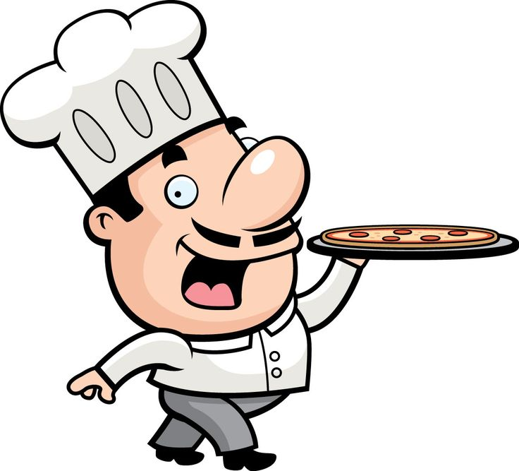 736x667 Chef With Food Clipart