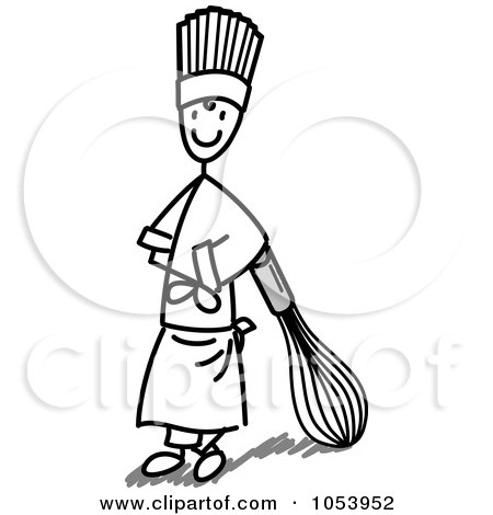 450x470 Royalty Free Vector Clip Art Illustration Of A Stick Man Chef