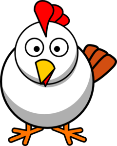 240x299 White Chicken Clip Art